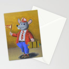 College Rat Stationery Cards