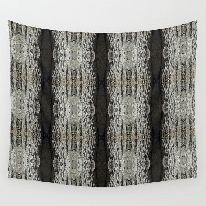 Oak Tree Bark Vertical Pattern by Debra Cortese Designs Wall Tapestry