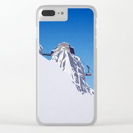 Chamonix ski Clear iPhone Case