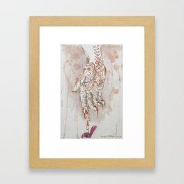Dripping Henna Framed Art Print