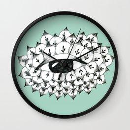 Sacred eye: the flower Wall Clock