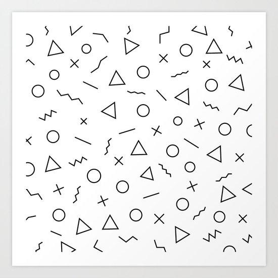 Memphis Geometry ((black on white)) by msjay