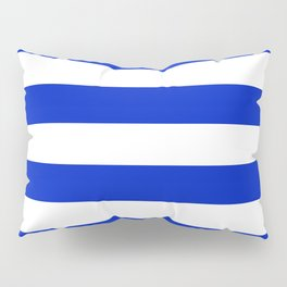 Cobalt Blue and White Wide Cabana Tent Stripe Pillow Sham
