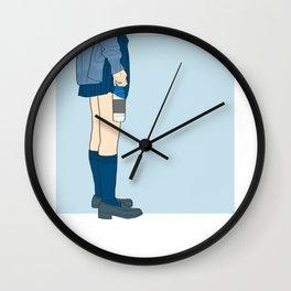 Blue Bottle Wall Clock