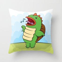 Humphrey the Deranged Platypus Monster Throw Pillow