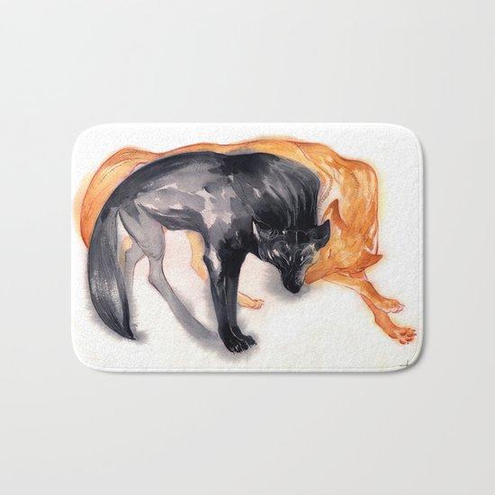 Two Wolves Bath Mat