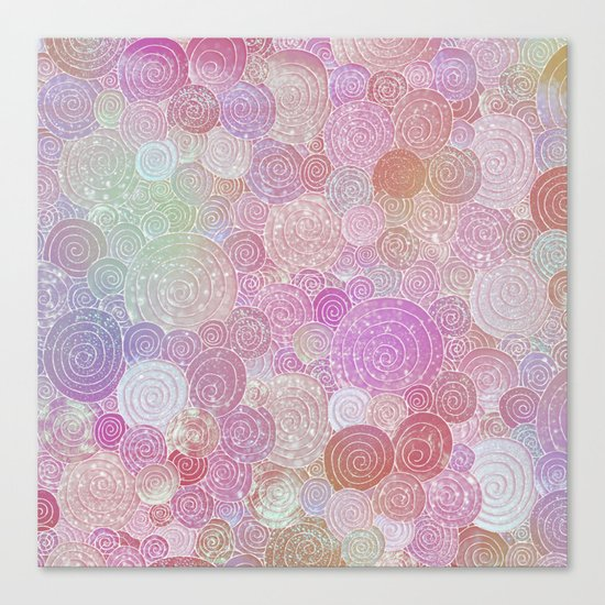 Abstract pink rosegold glamour glitter circles for ladies on #Society6 Canvas Print