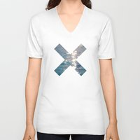 the xx V-neck T-shirts featuring XX  by Sara Eshak