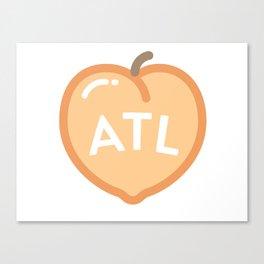 Atlanta Peach! Canvas Print