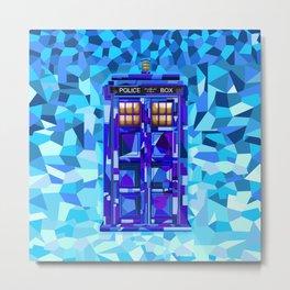 Phone Booth Tardis Doctor Who Cubic Art Metal Print