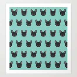 French Bulldog black coat frenchie must have gifts for dog person dog lover bulldog owner cute doge Art Print