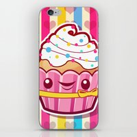 cupcake iPhone & iPod Skins featuring Cupcake by Acrylicana