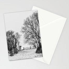 Snowy fields  Stationery Cards