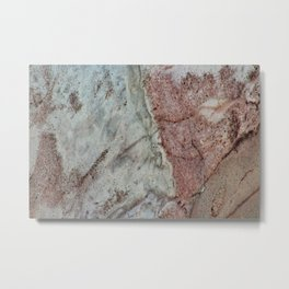 Polished Marble Stone Mineral Texture 29 Metal Print