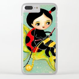 The Ladybug Knitter by Tascha Clear iPhone Case