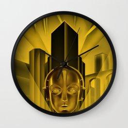 "Vintage 1927 ""Metropolis"" Movie Lithograph Advertisement Poster Wall Clock"