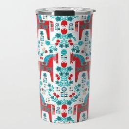 Swedish Folk Art Travel Mug