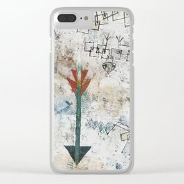 Birds Swooping Down and Arrows Clear iPhone Case