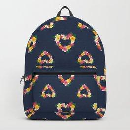 Plumeria Heart Wreath Backpack