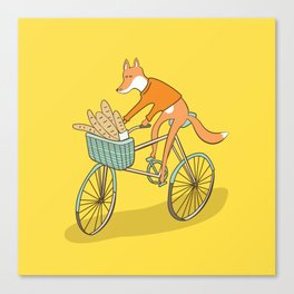 FOX ON BIKE Canvas Print