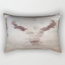 Car Part Cow Skull Rectangular Pillow