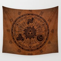 the legend of zelda Wall Tapestries featuring The Legend Of Zelda by Electra