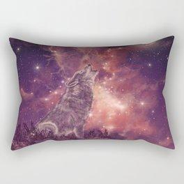 wolf and sky Rectangular Pillow