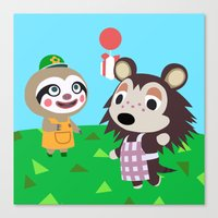 animal crossing Canvas Prints featuring Animal Crossing by Alex Owen