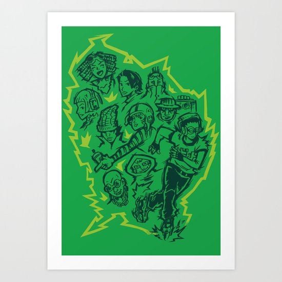 The GG's Art Print