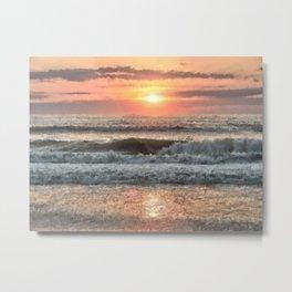 Painted Waves Metal Print