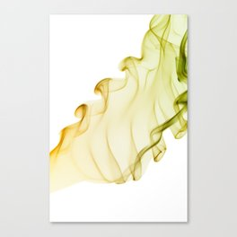Duo color yellow green smoke Canvas Print