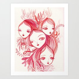 Mixed Up In A Coral World Art Print