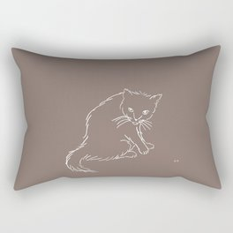 Latte Cat Rectangular Pillow