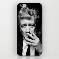 lynch iPhone & iPod Skins featuring David Lynch by Tia Hank