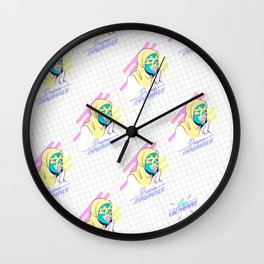 Drama magnifier Wall Clock