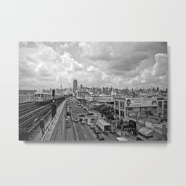 New York From the Seven Train Metal Print