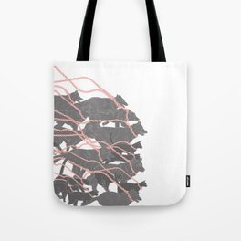Boy who went forth to learn what fear was - brothers Grimm illustration Tote Bag