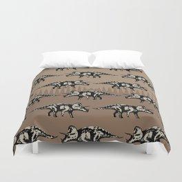 ChocoPaleo: Triceratops Duvet Cover