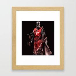 Crusader Warrior Framed Art Print