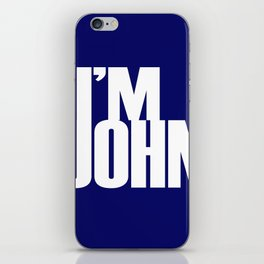 I'M JOHN (blue) iPhone Skin