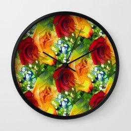 Parting Roses Wall Clock