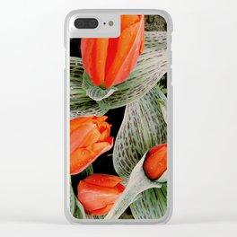 Scarlet + Artichoke Clear iPhone Case