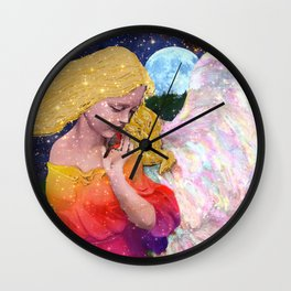 Angels Protect The Innocents Wall Clock