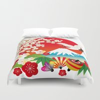 japan Duvet Covers featuring Japan by rie_lalala