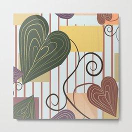 Hearts on Vines Metal Print