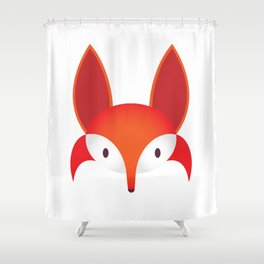 The Red Fox Shower Curtain