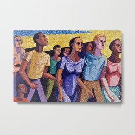 Classical African American Landscape 'Man Emerging' by Charles Alston Metal Print