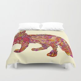Fox by Day Duvet Cover