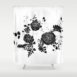 Broken Floral Sketch Shower Curtain