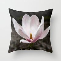 magnolia Throw Pillows featuring Magnolia by Guna Andersone & Mario Raats - G&M Studi
